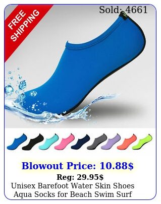 unisex barefoot water skin shoes aqua socks beach swim surf yoga exercis