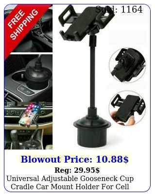 universal adjustable gooseneck cup cradle car mount holder cell phone gp