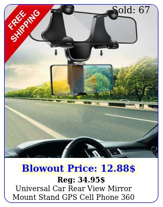 universal car rear view mirror mount stand gps cell phone rotation holde