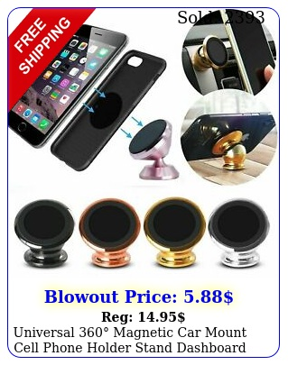 universal magnetic car mount cell phone holder stand dashboard iphon