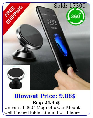 universal magnetic car mount cell phone holder stand iphone samsung gp