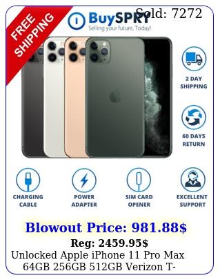 unlocked apple iphone pro max gb gb gb verizon tmobile smartphon