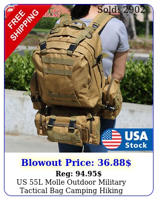 us l molle outdoor military tactical bag camping hiking trekking backpac
