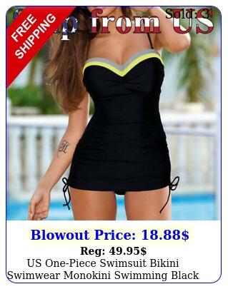 us onepiece swimsuit bikini swimwear monokini swimming black swim sui