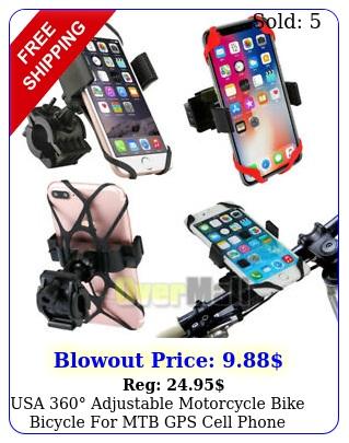 usa adjustable motorcycle bike bicycle mtb gps cell phone holder moun