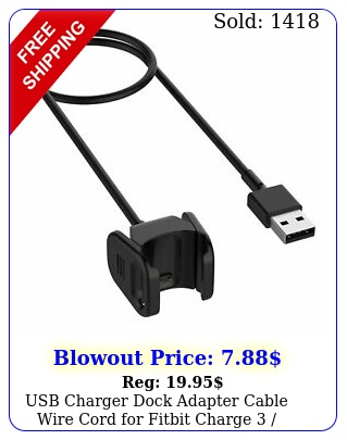 usb charger dock adapter cable wire cord fitbit charge  charg