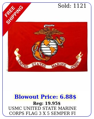usmc united state marine corps flag x semper fi fidelis with brass grommet