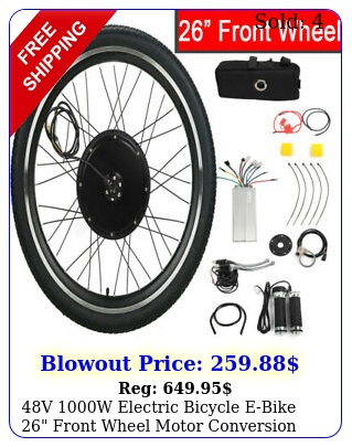 v w electric bicycle ebike front wheel motor conversion kit brushles