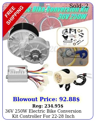 v w electric bike conversion kit controller inch ordinary bicycl