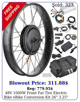 v w front fat tire electric bike ebike conversion kit  width ri