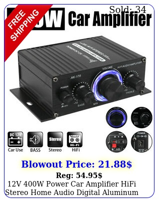 v w power car amplifier hifi stereo home audio digital aluminum alloy am