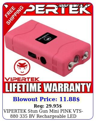 vipertek stun gun mini pink vts bv rechargeable led flashligh