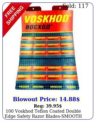 voskhod teflon coated double edge safety razor bladessmooth card of