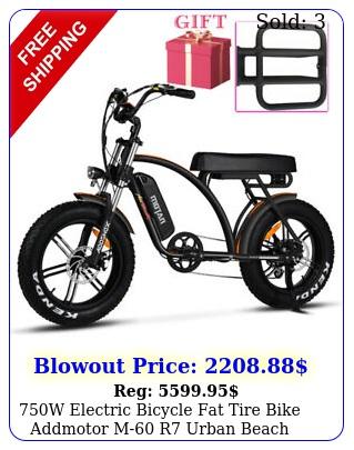 w electric bicycle fat tire bike addmotor m r urban beach cruiser ebik