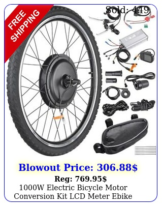 w electric bicycle motor conversion kit lcd meter ebike cycling front whee