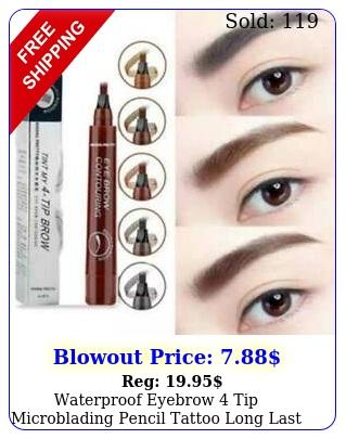 waterproof eyebrow  tip microblading pencil tattoo long last d fork makeup u