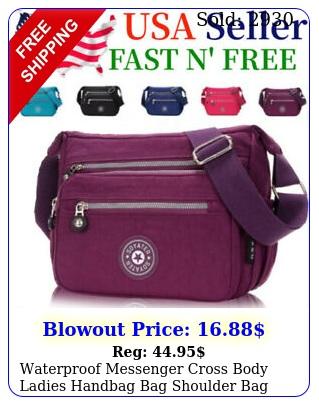waterproof messenger cross body ladies handbag bag shoulder bag womens purs