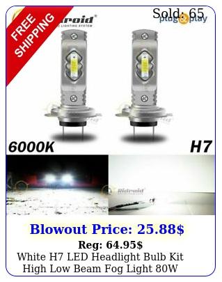 white h led headlight bulb kit high low beam fog light w k bulbs u