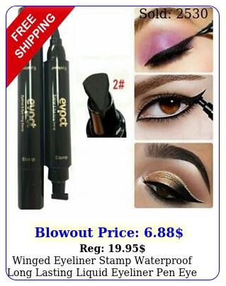 winged eyeliner stamp waterproof long lasting liquid eyeliner pen eye makeup ki