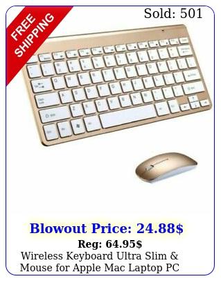wireless keyboard ultra slim mouse apple mac laptop pc surface pro w usb