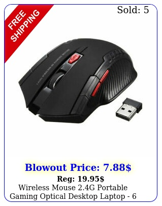 wireless mouse g portable gaming optical desktop laptop  buttons blac