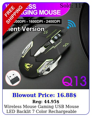 wireless mouse gaming usb mouse led backlit color rechargeable gaming p