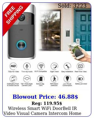 wireless smart wifi doorbell ir video visual camera intercom home security ki
