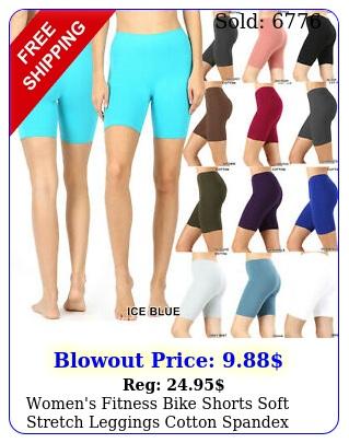 women's fitness bike shorts soft stretch leggings cotton spandex workout yog