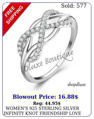women's sterling silver infinity knot friendship love promise ring siz