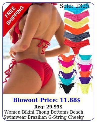 women bikini thong bottoms beach swimwear brazilian gstring cheeky swimsuit