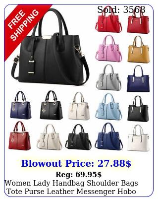 women lady handbag shoulder bags tote purse leather messenger hobo bag satche
