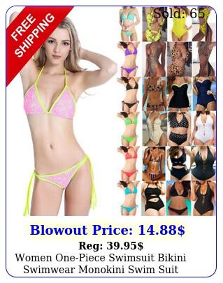 women onepiece swimsuit bikini swimwear monokini swim suit regular to plus siz