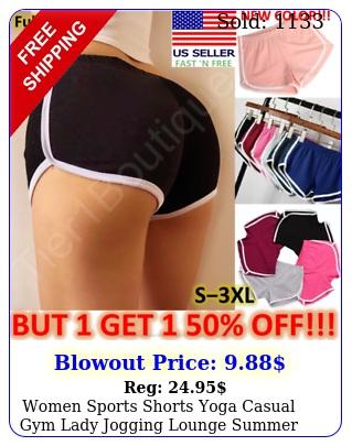 women sports shorts yoga casual gym lady jogging lounge summer beach pant