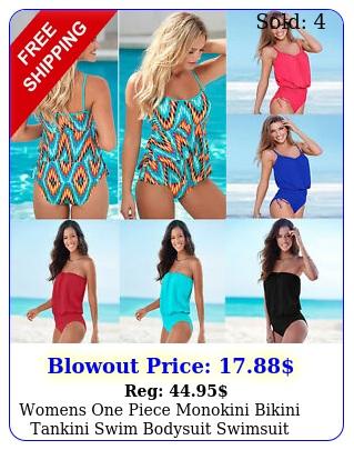 womens one piece monokini bikini tankini swim bodysuit swimsuit beach swimwea