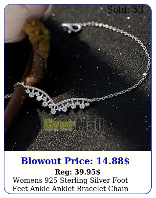 womens sterling silver foot feet ankle anklet bracelet chain jewelr