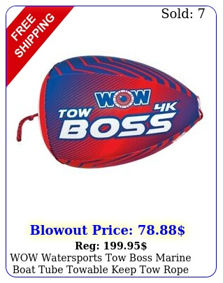 wow watersports tow boss marine boat tube towable keep tow rope out of wate