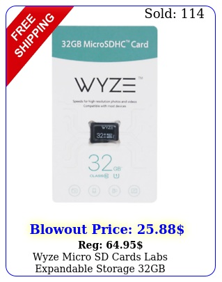 wyze micro sd cards labs expandable storage gb microsdhc class camer