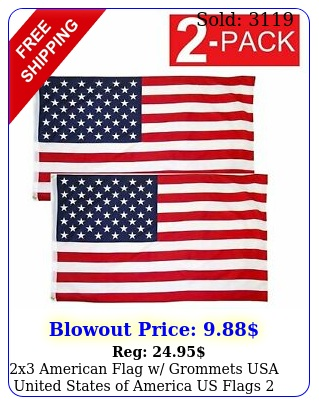 x american flag w grommets usa united states of america us flags pac