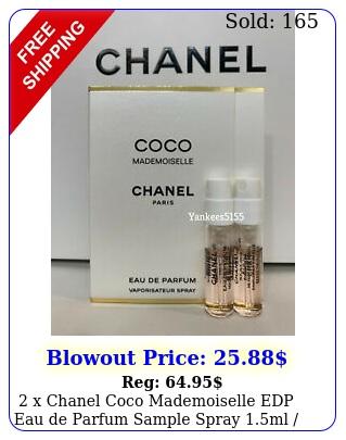 x chanel coco mademoiselle edp eau de parfum sample spray ml oz eac
