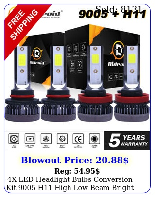 x led headlight bulbs conversion kit h high low beam bright white