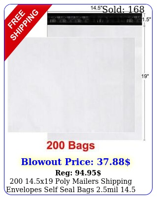 x poly mailers shipping envelopes self seal bags mil