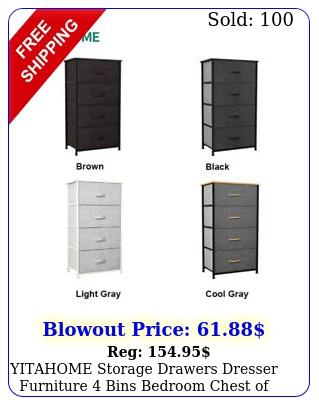 yitahome storage drawers dresser furniture bins bedroom chest of organize